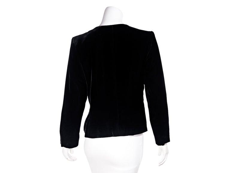 d204f0b0e96 Black Vintage Yves Saint Laurent Rive Gauche Velvet Jacket In Good  Condition For Sale In New