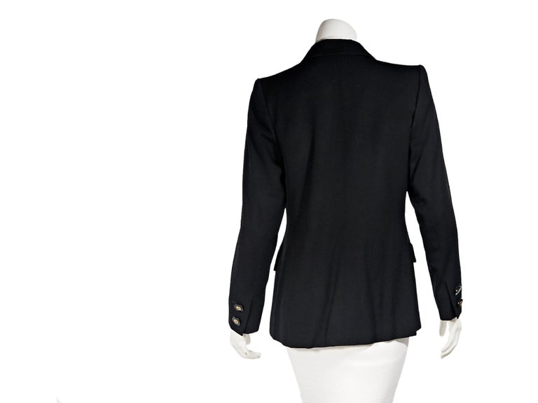 Black Vintage Yves Saint Laurent Rive Gauche Wool Blazer In Good Condition For Sale In New York, NY