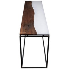 Black Walnut and Cambria Quartz Console
