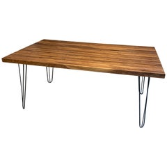Black Walnut Dining Table on Steel