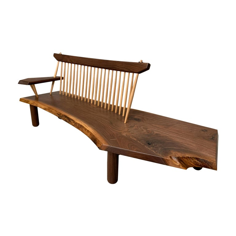 Live Edge Bench w Back *Free Shipping*