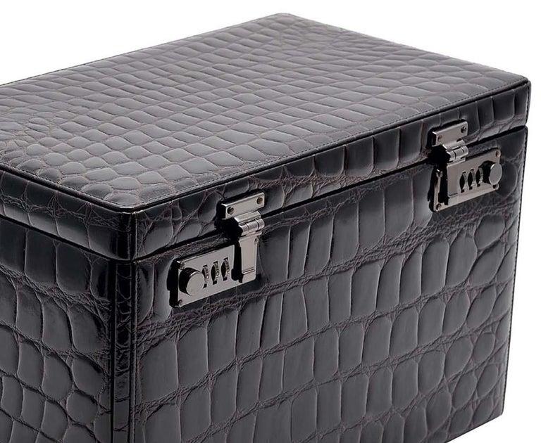 Italian Black Watch and Cufflink Suitcase