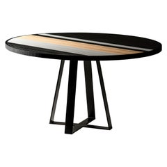 """Soto"" Table in Oak, Black and White by Larissa Batista"