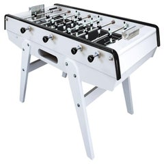 Black and White Beech Wood Foosball Table, Made in France