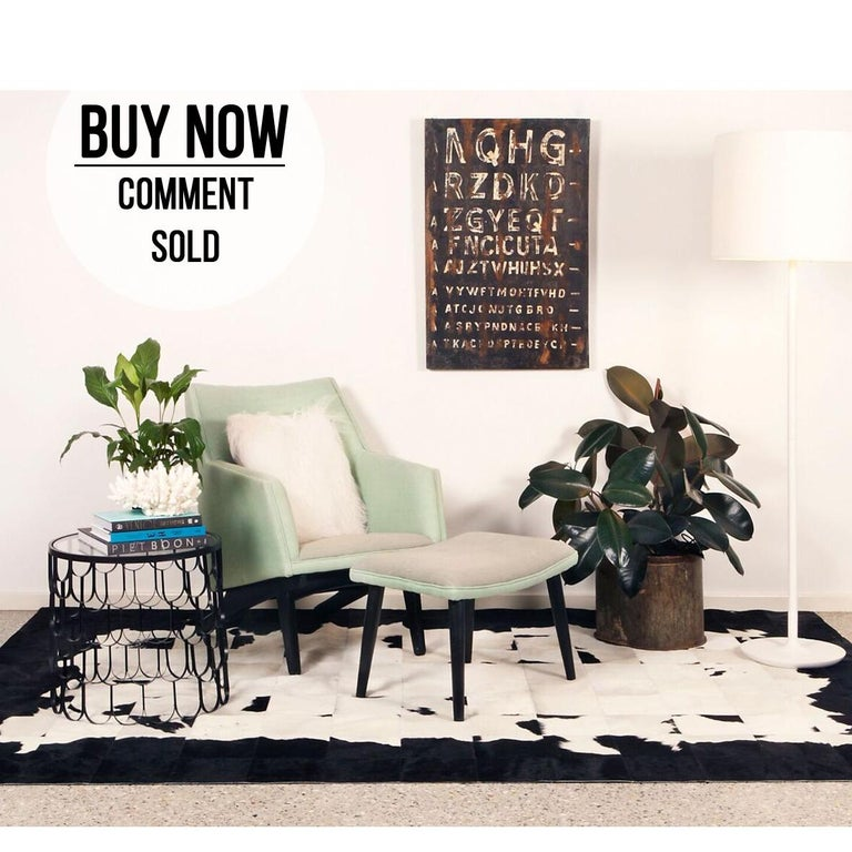 Reinvent your space with the bold graphic design of Art Hide's Buenos Aires rug that's a twist on the Classic monochrome.  The Buenos Aires is created from premium Argentinian cowhide leather, cut and joined together with commercial-grade nylon