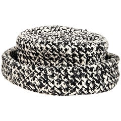 Black & White Chanel Boucle Hat