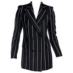 Black & White Gianfranco Ferre Striped Blazer