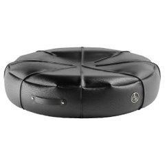 Black & White Luxury Modern Pet Bed, Round Small Pet Cushion for Cats & Dogs