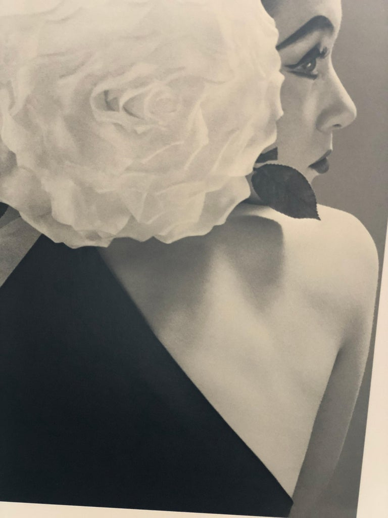 "Paper Black and White Photo by Richard Avedon ""Barbara Mullen"" 1951 Sheet-Fed Gravure For Sale"