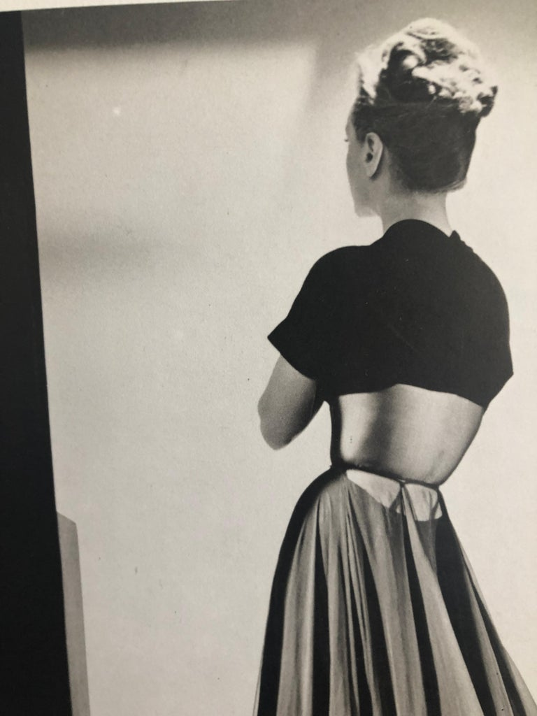 Black and White Photo Lithograph by Maurice Tabard for Harper's Bazaar, 1947 For Sale 1