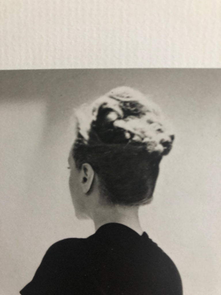 Mid-Century Modern Black and White Photo Lithograph by Maurice Tabard for Harper's Bazaar, 1947 For Sale