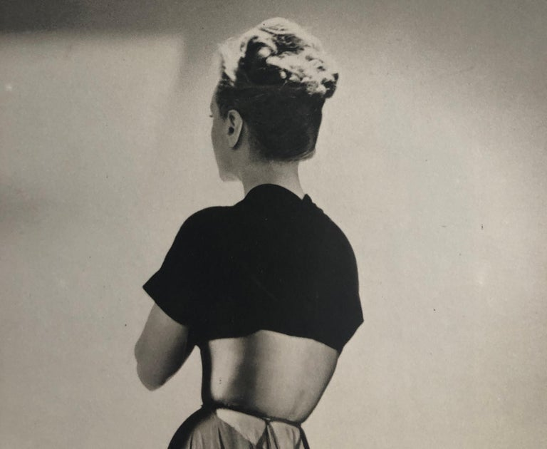 Paper Black and White Photo Lithograph by Maurice Tabard for Harper's Bazaar, 1947 For Sale