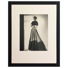 Black & White Photo Lithograph by Maurice Tabard for Harper's Bazaar, 1947