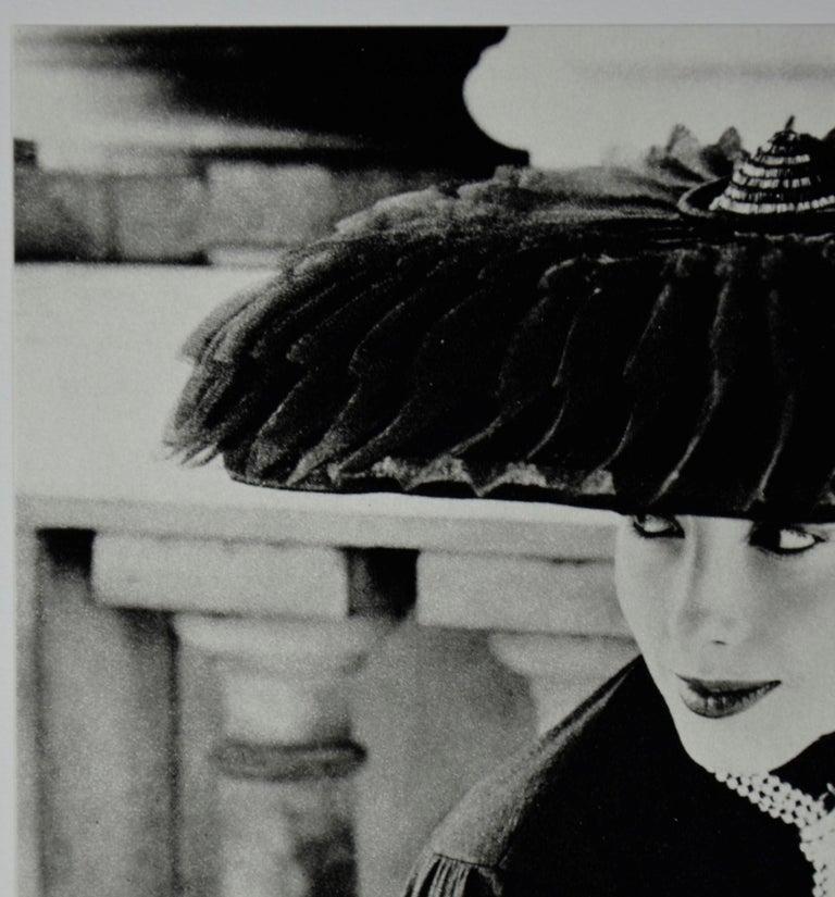 """Black & White Photo Norman Parkinson """"Legroux Soeurs Hat"""" 1952 Sheet-Fed Gravure For Sale 3"""