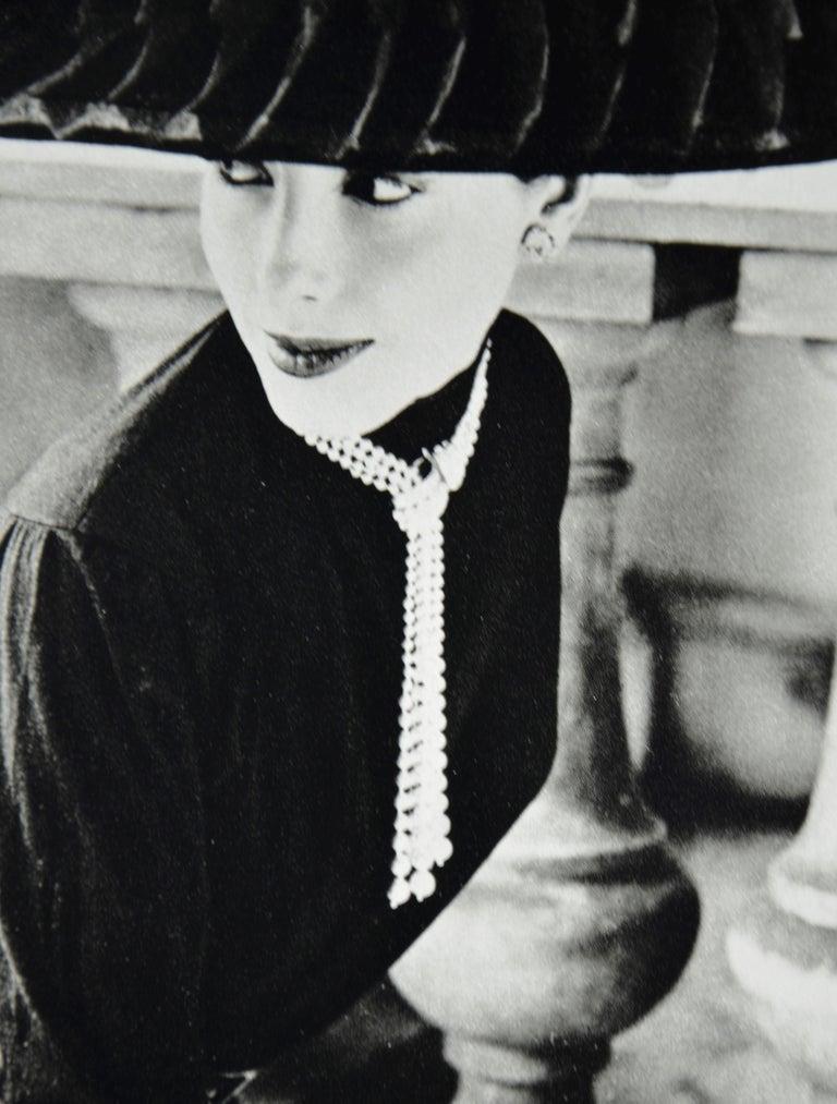 """Black & White Photo Norman Parkinson """"Legroux Soeurs Hat"""" 1952 Sheet-Fed Gravure For Sale 5"""