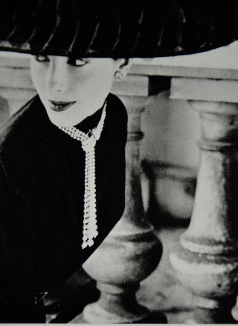 """Black & White Photo Norman Parkinson """"Legroux Soeurs Hat"""" 1952 Sheet-Fed Gravure For Sale 8"""