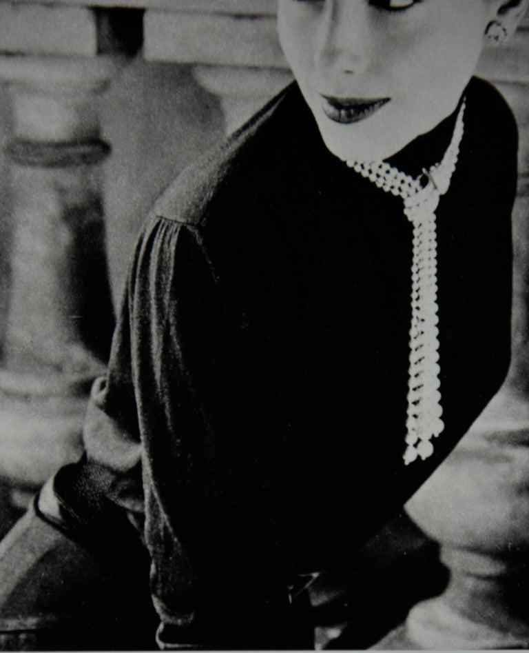 """Black & White Photo Norman Parkinson """"Legroux Soeurs Hat"""" 1952 Sheet-Fed Gravure For Sale 9"""