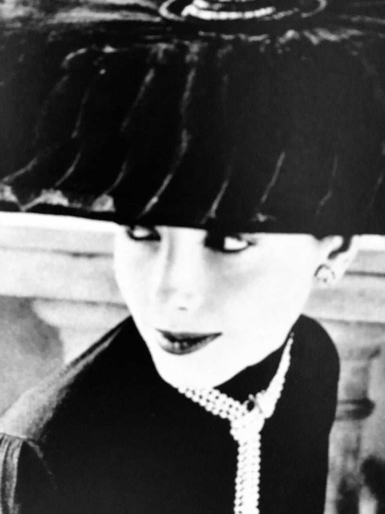 """Black & White Photo Norman Parkinson """"Legroux Soeurs Hat"""" 1952 Sheet-Fed Gravure In Good Condition For Sale In Houston, TX"""
