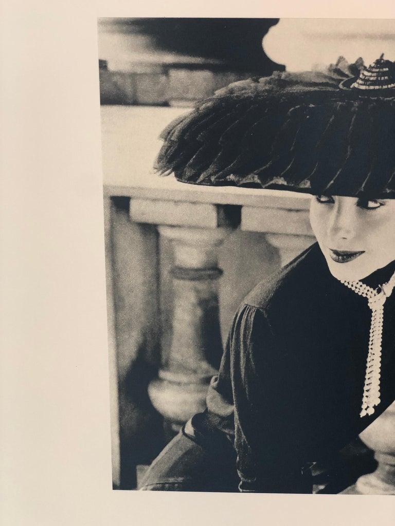 """Black & White Photo Norman Parkinson """"Legroux Soeurs Hat"""" 1952 Sheet-Fed Gravure For Sale 2"""