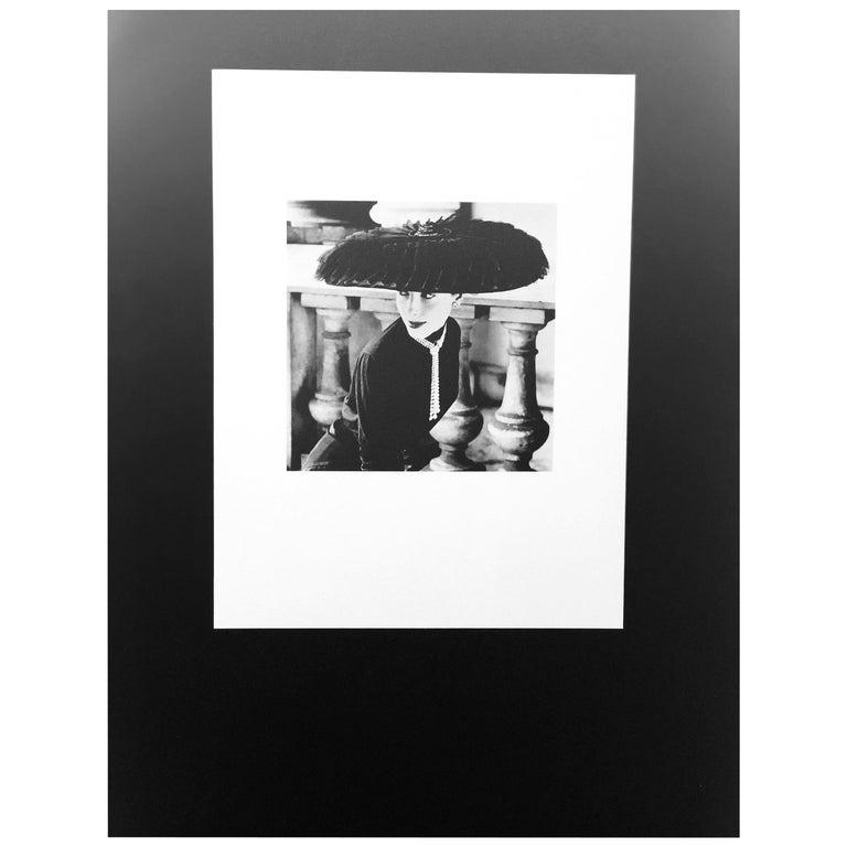 """Black & White Photo Norman Parkinson """"Legroux Soeurs Hat"""" 1952 Sheet-Fed Gravure For Sale"""