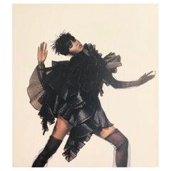 Black & White Quad-Tone Photo-Engraving, Irving Penn, Issey Miyake Fashion, NYC