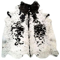 Black & White Salt & Pepper Cowhide Rug