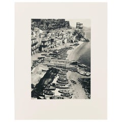 Black & White Sheet Fed Gravure Photo by Alfred Eisenstaedt Amalfi Drive, 1960s