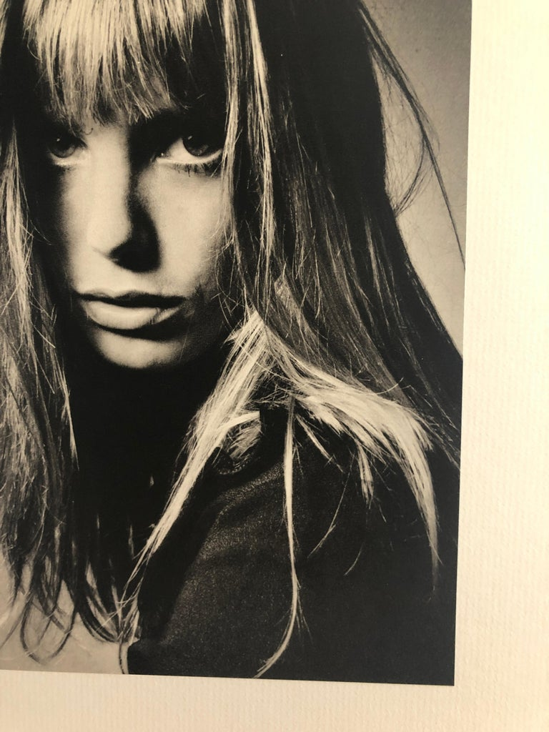 Black and White Sheet Fed Gravure Photo by Jeanloup Sieff of Jane Birkin, 1968 In Good Condition For Sale In Houston, TX
