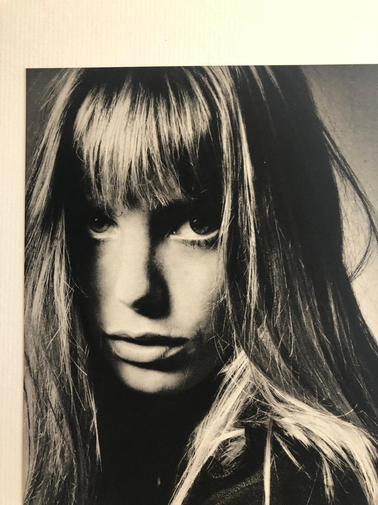 20th Century Black and White Sheet Fed Gravure Photo by Jeanloup Sieff of Jane Birkin, 1968 For Sale
