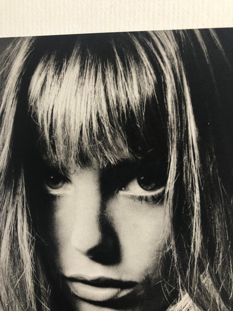 Black and White Sheet Fed Gravure Photo by Jeanloup Sieff of Jane Birkin, 1968 For Sale 1