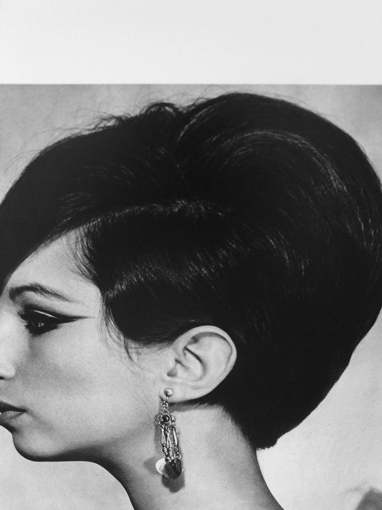 Black and White Sheet Fed Gravure Photo Philippe Halsman, Barbra Streisand 1970s For Sale 3