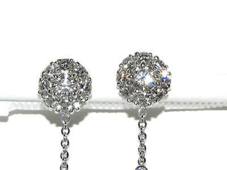 Black White South Sea and Tahitian Pearl Diamond Earrings Cluster In New Condition For Sale In New York, NY
