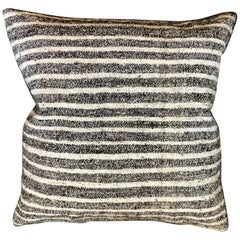 Black and White Striped Wool Pillow by Le Lampade