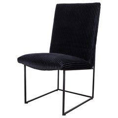 Black Wide Whale Corduroy Thin Frame Dining Chair by Lawson-Fenning
