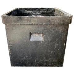 Black Willy Guhl Square Planter