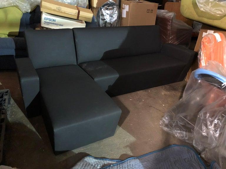 Black Wittmann Vienna Sectional Sofa For Sale 4