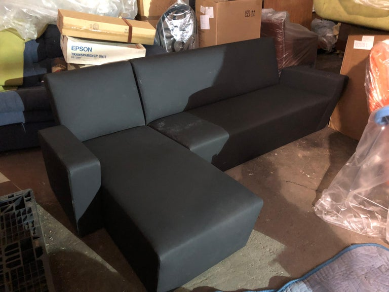 Wittmann Vienna Sectional Fabric: Black Scuba Original price: $11,900. Vienna is dominated by a radical line. Precisely for the effect of this reduction is the greatest perfection in the implementation important. Elementalism is a central concept