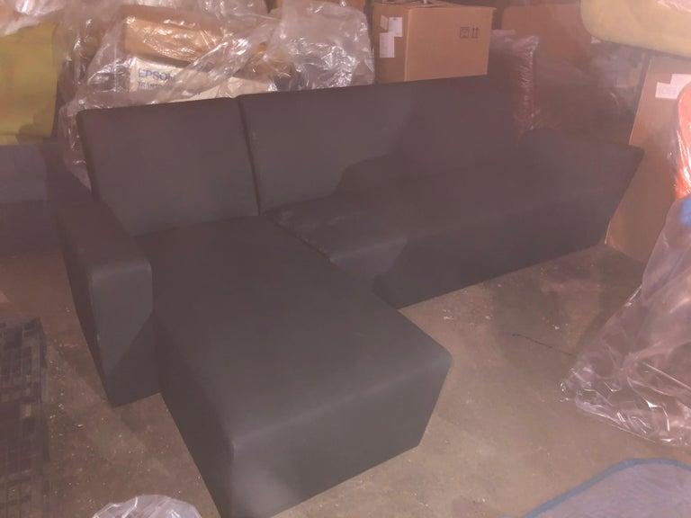 Austrian Black Wittmann Vienna Sectional Sofa For Sale