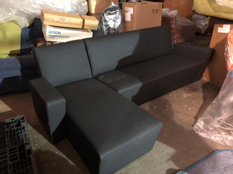 Black Wittmann Vienna Sectional Sofa For Sale 2