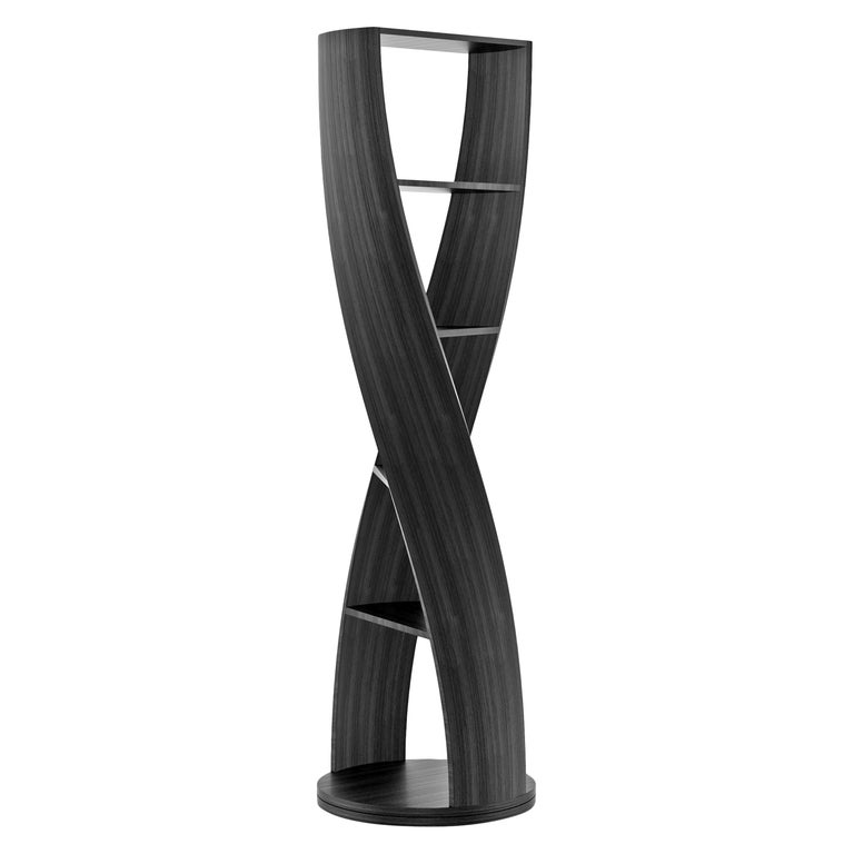 Black Wood Bookcase and Storage System, MYDNA Collection by Joel Escalona For Sale