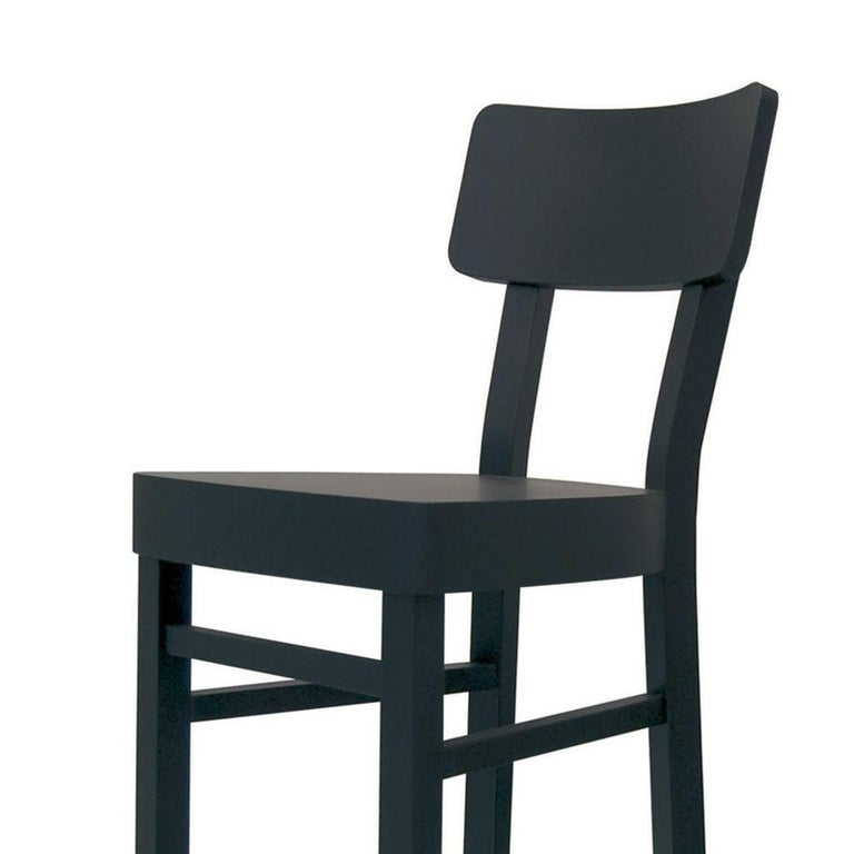 Magnificent Black Wooden Bar Stool In Solid Beechwood Pabps2019 Chair Design Images Pabps2019Com