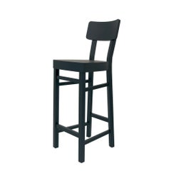 Black Wooden Bar Stool in Solid Beechwood