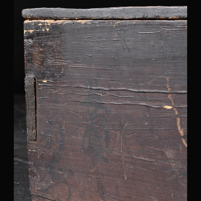 Black Wooden Box from the Edo Period '18th-19th Century' in Japan For Sale 3