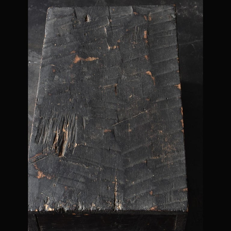 Japanese Black Wooden Box from the Edo Period '18th-19th Century' in Japan For Sale