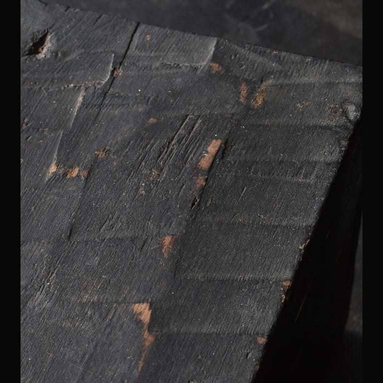 Woodwork Black Wooden Box from the Edo Period '18th-19th Century' in Japan For Sale