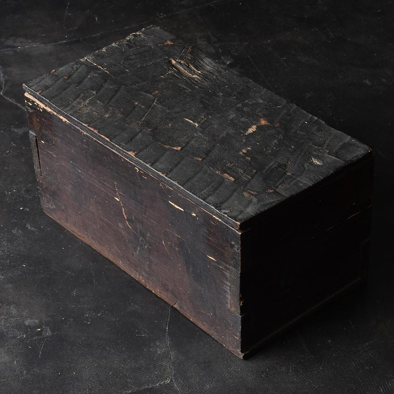 Black Wooden Box from the Edo Period '18th-19th Century' in Japan For Sale 1