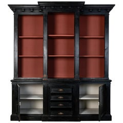Black Wooden Display Cabinet