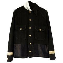 Embellished Jacket Military Wool Gold Braid Offwhite Silk Collar J Dauphin