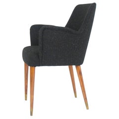 Black Wool P35 Armchair by Osvaldo Borsani for Atelier Borsani Varedo, 1950s