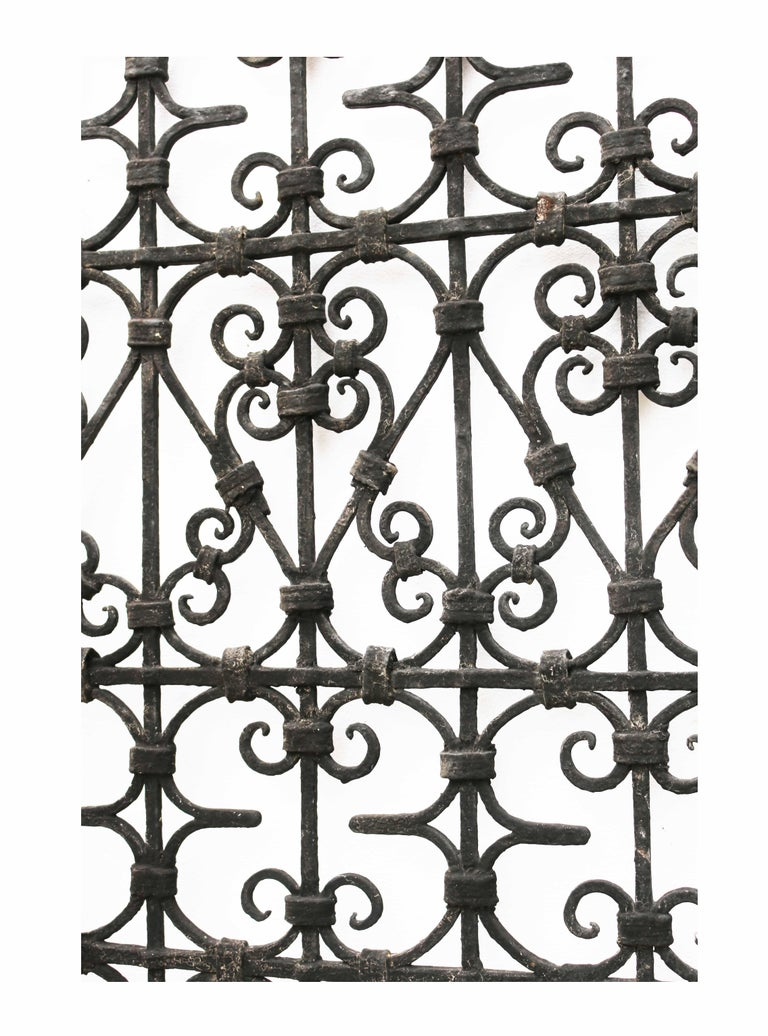 Victorian Black Wrought Iron Pedestrian Gate, circa 1900 For Sale